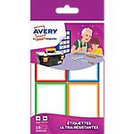 Étiquettes Avery Avery Multicouleur 64 x 44 mm 16 Unités