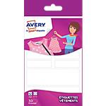 Étiquettes pour vêtements Avery Blanches 30 étiquettes