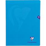 Cahier grands carreaux piqué Polypro Clairefontaine Mimesys A4 Bleu 48 Pages   24 Feuilles