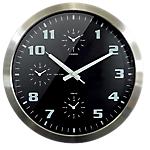 Horloge murale Orium by CEP World Time 40 (H) x 40 (l) cm Argenté