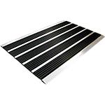 Tapis extérieur Floortex Alumat 39 (H) x 60 (l) cm Noir