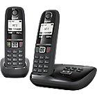 Téléphone Fixe Sans fil Gigaset AS470A Duo Noir