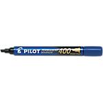 Marqueur permanent Pilot 400 Biseauté Bleu