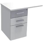 Extension de bureau Adjust 800 x 600 x 719 mm Blanc, gris aluminium