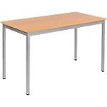Table de réunion modulaire rectangulaire Domino 1200 x 600 x 740 mm Imitation Hêtre