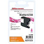 Cartouche jet d'encre Office Depot Compatible Brother LC123M Magenta