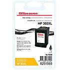 Cartouche jet d'encre Office Depot Compatible HP 302XL Noir F6U68AE