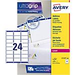 Étiquettes d'adresses AVERY Zweckform L7159 100 A4 Blanc 63,5 x 33,9 mm 100 Feuilles de 24 Étiquettes