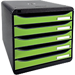 Module de tiroirs Exacompta Big Box Plus 27,8 x 34,7 x 27,1 cm Noir, vert