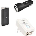 Pack 3 accessoires de recharge BLUESTORK Travel pack   3 Unités