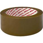 Ruban adhésif d'emballage Office Depot Silencieux 48 mm x 66 m Marron