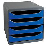 Module de Tiroirs Exacompta Big Box Classic 27,1 x 34,7 x 27,8 cm noir