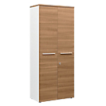 Armoire haute Gautier Office Top Line 800 x 420 x 1 870 mm Imitation merisier, blanc