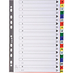 Intercalaires Exacompta A4 Assortiment 20 intercalaires Perforé Polypro A   Z