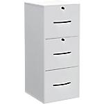 Classeur monobloc 3 tiroirs pour dossiers suspendus Elégance 420 x 440 x 1010 mm Blanc