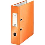 Classeur à levier Leitz WOW 80 mm Carton 2 Anneaux A4 Orange