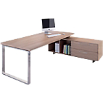 Bureau d'angle Flora 1 800 x 900 x 740 mm Imitation noyer