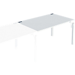 Bureau droit juxtaposable 4You 120 x 80 x 72 cm Blanc