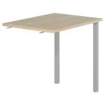 Retour direct pour bureau Dual 80 x 60 x 73 cm Imitation chêne, gris aluminium