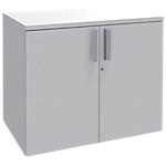Armoire basse Adjust 800 x 473 x 725 mm Blanc