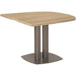 Table de réunion demi ovale Gautier Office Vermont 1150 x 1150 x 750 mm Imitation chêne