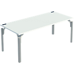 Bureau droit 4You 1 800 x 800 x 720 mm Blanc, aluminium