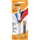 Stylo bille rétractable + Porte mines BIC 4 Couleurs 3+1 HB 0.32 mm Assortiment