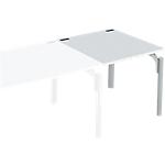 Bureau droit juxtaposable 4You 80 x 80 x 72 cm Blanc, aluminium
