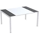 Table de réunion 4 pieds Paperflow EasyOffice Anthracite, blanc 1500 x 1140 x 750 mm
