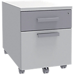 Caisson mobile Adjust 414 x 529 x 560 mm Blanc, gris aluminium