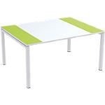 Table de réunion 4 pieds Paperflow EasyOffice Vert, blanc 1500 x 1140 x 750 mm