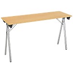 Table pliante de formation 1 600 x 400 x 740 mm Imitation Hêtre