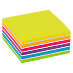 Cube de notes adhésives Office Depot 76 x 76 mm Assortiment   400 Feuilles