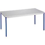Table de réunion modulaire rectangulaire Domino 120 x 60 x 74 cm Gris
