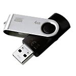 Clé USB GOODRAM UTS2 4 Go Noir, Argenté
