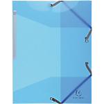 Chemises 3 rabats à élastique Exacompta Iderama A4 Bleu clair