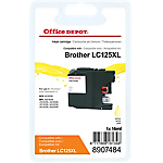 Cartouche jet d'encre Office Depot Compatible Brother LC125XL Jaune