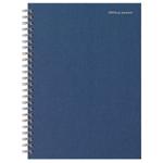 Cahier petits carreaux reliure intégrale Office Depot Bleu foncé A5+  Perforé 2 Perforations 160 Pages   80 Feuilles