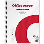Cahier à spirale Office Depot Blanc A4+ Quadrillé Perforé 160