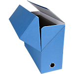 Boîtes transfert Exacompta 120 mm 34 x 12 x 25,5 cm Bleu