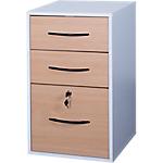 Classeur monobloc 3 tiroirs Elégance 420 x 440 x 690 mm Imitation hêtre, blanc