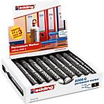Marqueurs permanents edding E2000 3.0 mm Noir   20 Unités