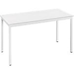 Table de réunion modulaire rectangulaire Domino 120 x 60 x 74 cm Blanc