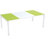 Table de réunion 4 pieds Paperflow EasyOffice Vert, blanc 2200 x 1140 x 750 mm