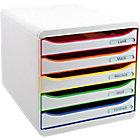 Module de classement Exacompta Big Box Plus Classic 5 27,1 (H) x 27,8 (l) x 34,7 (P) cm Blanc Arlequin