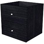 Lot de 2 tiroirs Burocolor 28,8 (l) x 32,5 (H) cm Imitation frêne noir