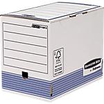 Boîtes d'archivage Fellowes Bankers Box Blanc, bleu 20 x 48,1 x 52,6 cm 10 Unités