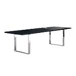 Table de réunion Flora 2200 x 1000 x 740 mm Imitation frêne noir
