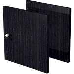 Lot de 2 portes Burocolor 16 x 322 mm Imitation frêne noir