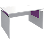 Bureau ajustable Adjust 1 200 x 800 x 820 mm Blanc, violet